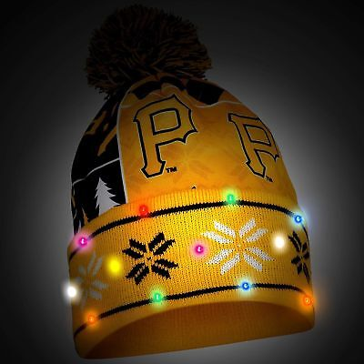Too Cool! New Licensed Pittsburgh Pirates Light Up Beanie Winter Hat __B08](Cool Pirate Hats)