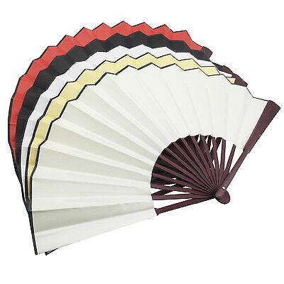 5 pcs Chinese Nylon-Cloth Handheld Folding Hand Fan Drawing Dancing Performance