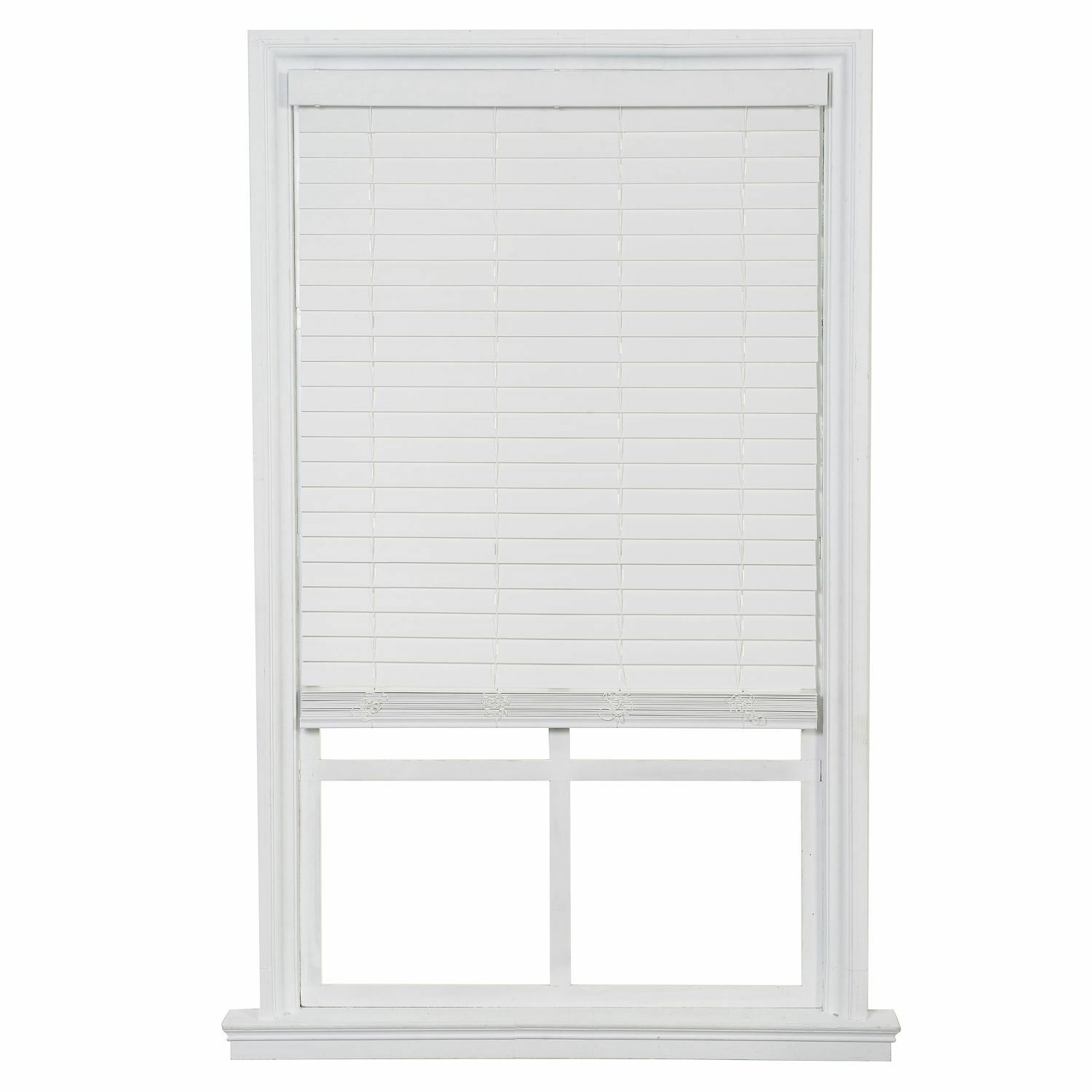 one touch faux wood blinds white free