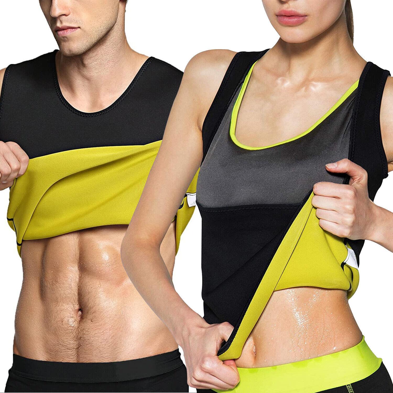 Men Women Body Sweat Shaper Sauna Vest Weight Loss Shaperwear Workout Tank Tops Clothing, Shoes & Accessories