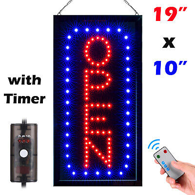 Red and Blue Lithonia Lighting SGNOPN LED Open Sign
