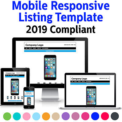 Template Ebay Listing Auction Responsive Mobile Compliant Professional 2021 Html