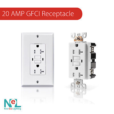 20a Gfci Gfi Safety Outlet Receptacle Tamper And Weather Resistant White