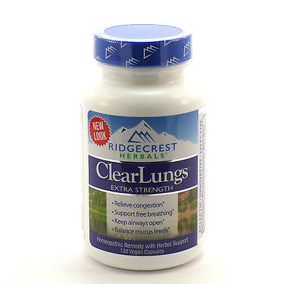 Clear Lungs Extra Strength by Ridgecrest Herbals - 120 Capsules