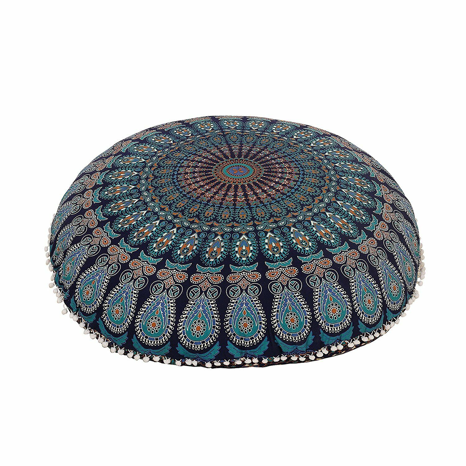 "Large 32"" Floor Cushion Mandala cover Throw Bohemian Indian"