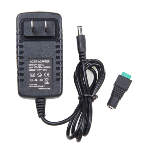 AC 100-240V To DC 12V 3A 36W Power Supply Adapter
