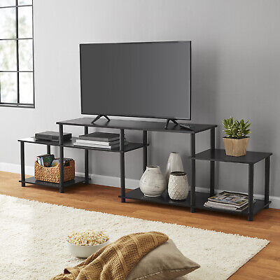 Black Oak TV Stand Entertainment Center For TVs Up To 52 Set W/ Plastic - Solid Oak Tv Stands