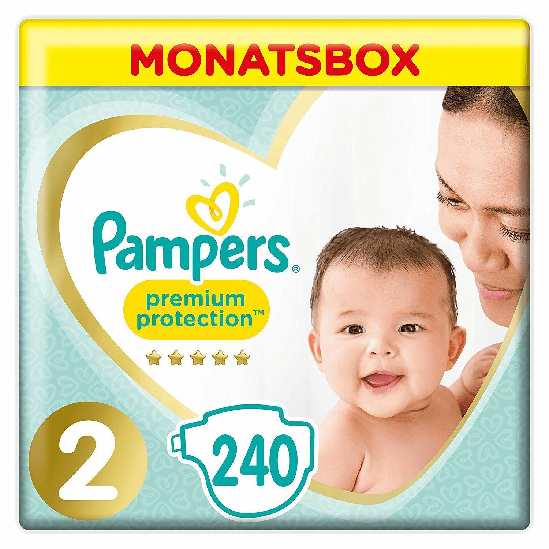 Pampers Premium Protection Windeln, Gr.2, 4-8kg, Monatsbox, 1er Pack (1 x 240 St