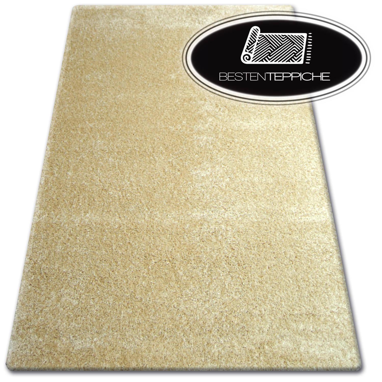 """billig weich teppiche """"SHAGGY NARIN"""" gold - 160 x 220 cm - GROßER VERKAUF -70%"""