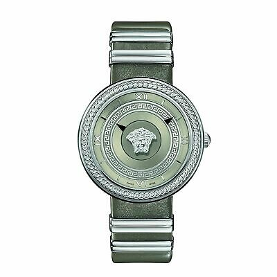 Versace VLC120016 Women's V-METAL ICON Silver-Tone Quartz Watch