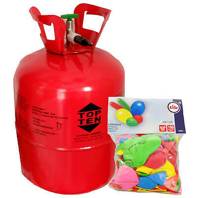 Helio Gas para Globos Aprox. 50 Incl. 100 Botella Heliumflasche