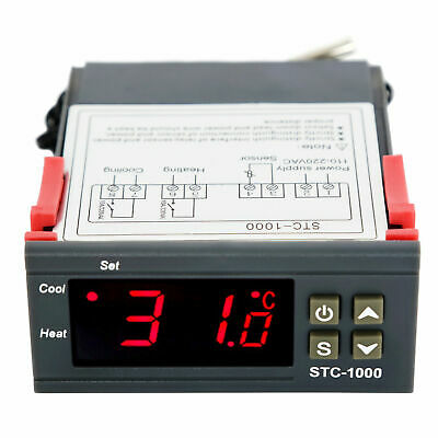 110v Universal Stc-1000 Digital Temperature Controller Thermostat W Sensor Ac