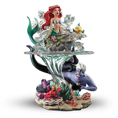 Bradford Exchange Disney The Little Mermaid Part of Her World Ariel Ursula NEW