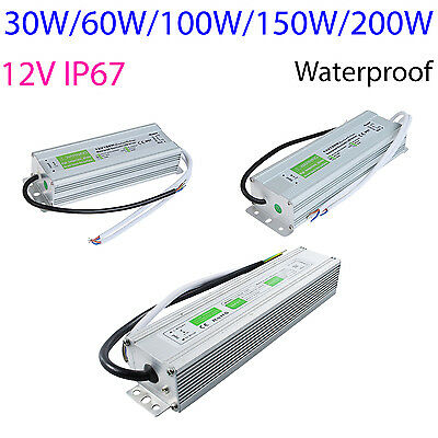 DC Power Supply Adapter Waterproof Outdoor Transformer 12V 30 100 150W LED -