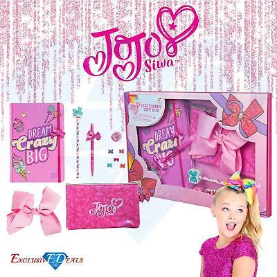 JoJo Siwa Bows Children's Pink Stationery Gift Set - Christmas / Birthday Gift