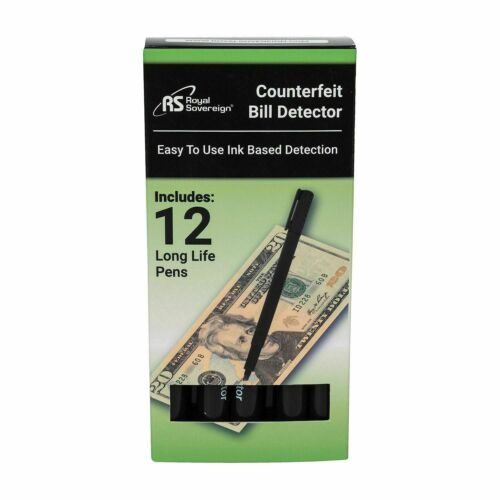 12PK Royal Sovereign Counterfeit Protection Pens Easy to Use Ink based Detection