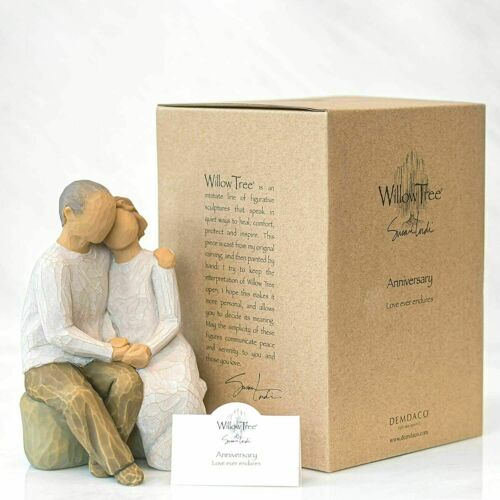 Willow Tree Anniversary Loving Couple, Sculpted Hand Painted Figure #26184