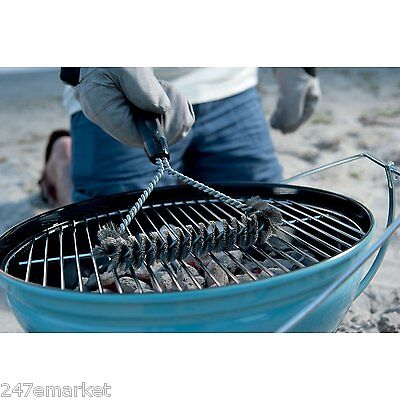 Weber Bbq Tools - NEW! Weber 6494 12-Inch 3-Sided Grill Brush BBQ Tools Cleaning Stainless