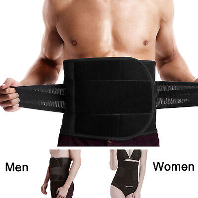 Adjustable Lumbar Back Support Belt Lower Pain Relief Double Pull Brace Mesh US Lower Back Brace Support