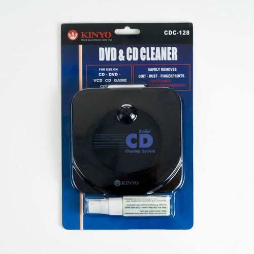 Kinyo 72-CDC128 Radial GAME DVD/CD Cleaning System - New / Sealed