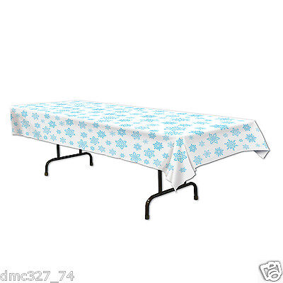 CHRISTMAS Winter or FROZEN Themed Party Decoration Plastic SNOWFLAKE TABLE COVER - Christmas Theme Party Decorations