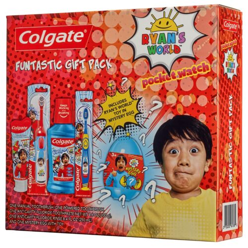 Colgate Kids Toothpaste And Battery Powered Set, Ryan'S Worl