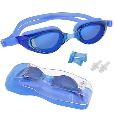 Ear Plugs Wide Viewing Clear Optical Swimming Goggles With Nose Piece Adult (Goggles With Nose Piece)