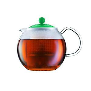 NEW Bodum Assam Tea Coffee Glass Pot Press with Filter 1 L - (Green)