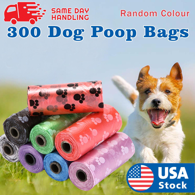 300 Poop Bag Dog Waste Pick Up Clean Bags Dog Supplies