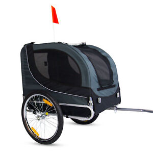 Buy Folding Dog Bike Trailer Cat Carrier Pet Basket Trail Cargo
