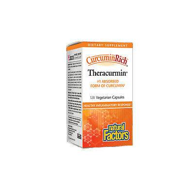 Natural Factors CurcuminRich Theracurmin 30mg, 120 Vegetarian Capsules