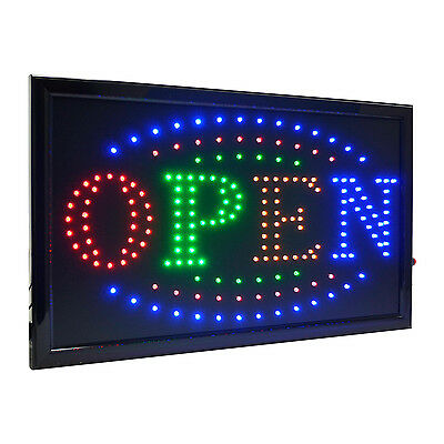 Large 4 Color High Visible Led Light Business Open Sign Chain Switch 21.5x13