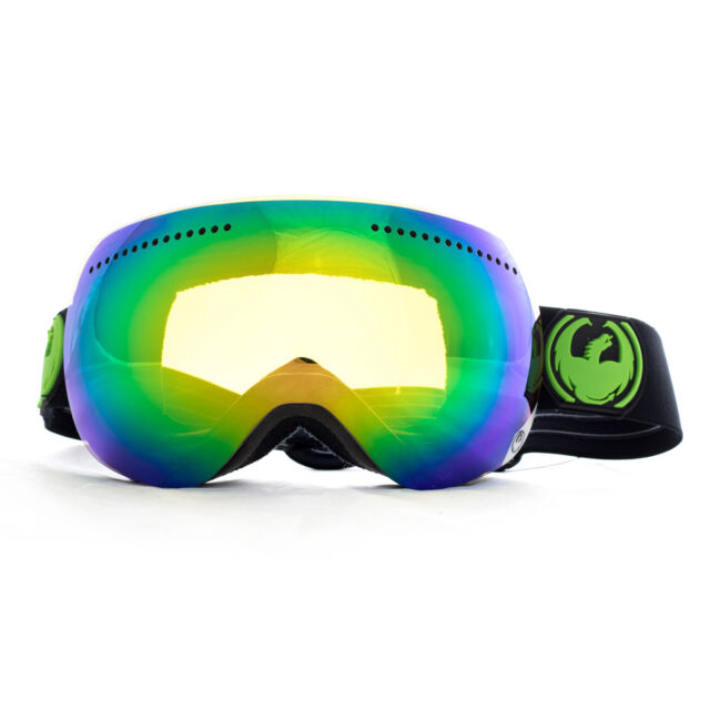 09105be33448 Dragon APX Frameless Snow Goggles Jet   Green Ionized + Yellow Blue Ion Lens