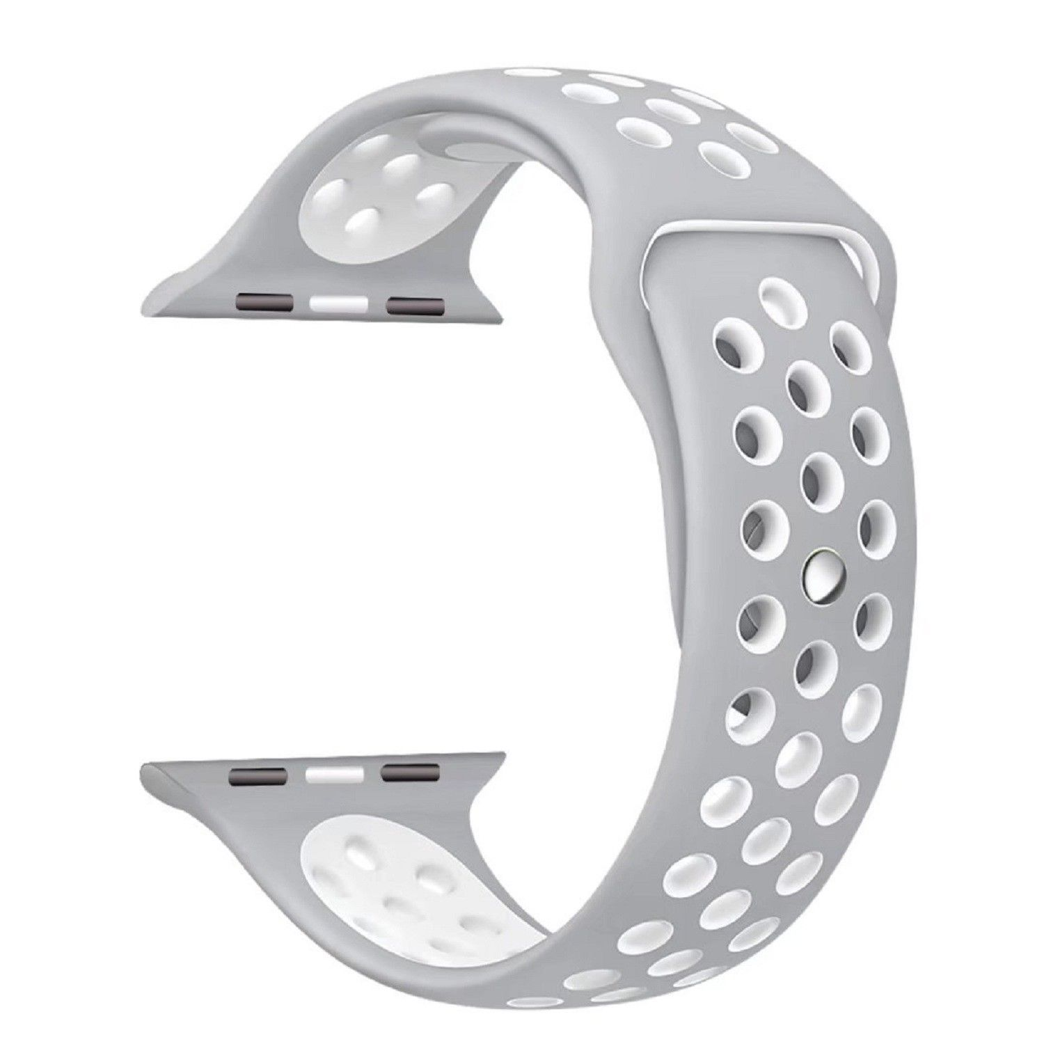 NEW Sport Nike+ Apple Watch Band Replacement Strap iWatch 38mm Silver/White Jewelry & Watches