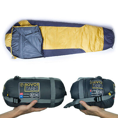 Rovor Tabei 52 Degree Mummy Backpacking Sleeping Bag with Included Stuff Sack Backpacking Mummy Sleeping Bag