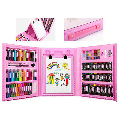 Zooawa Kids Art Drawing Colored Pencils Kit Artist Sketching Oil Pastels Set Box - Art Boxes