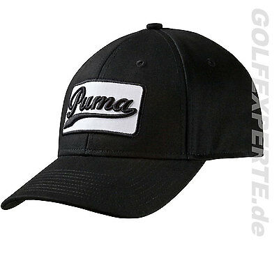NEU PUMA GOLF CAP UNISEX GREENSKEEPER ADJUSTABLE BASEBALL-CAP SCHWARZ WEIß