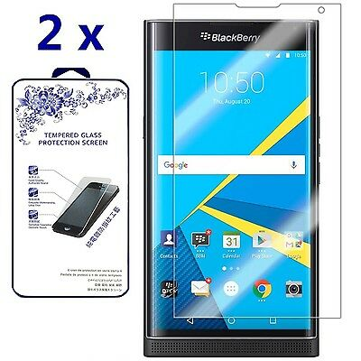 [2-Bale] For BlackBerry Priv Premium Tempered Glass Screen Protector 0.26mm 9H