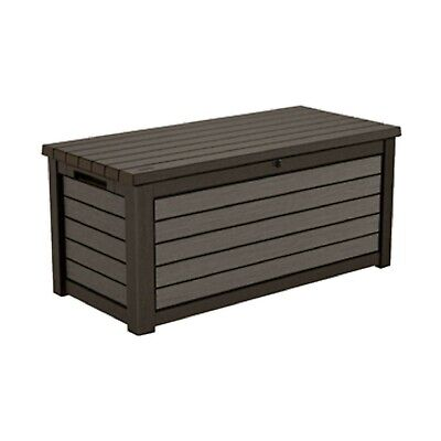 NEW 165 Gallon Weather Resistant Resin Outdoor Deck Storage Patio Container Box