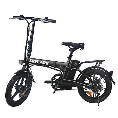 "NAKTO 16"" Folding Electric Bicycle Lightweight E-bike City Bike 250w 36V Motor"