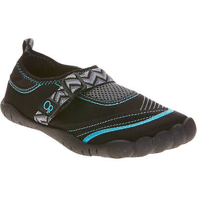 cd9823374121 OP Women s Black Turquoise Beach and Poolside Water Shoes 9-10 Large