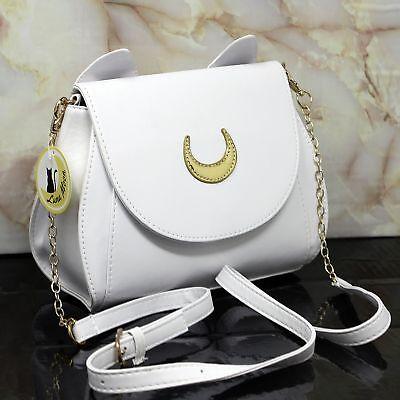 Artemis Moon Premium Design Handtasche, Katze Tasche Kunstleder, Damen Cosplay