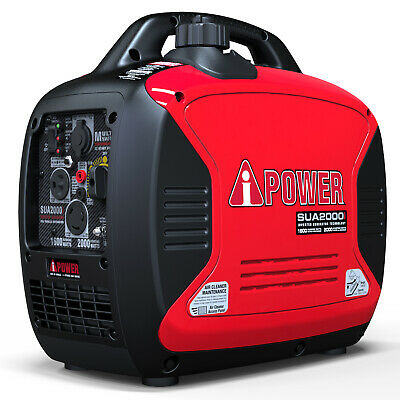 A-iPower 2000 Watt Portable Inverter Generator Super Quiet Gas Powered CARB/EPA