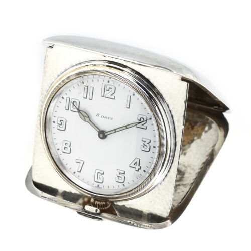 Octava Watch & Co Travel Clock Swiss Sterling Silver 8 Day