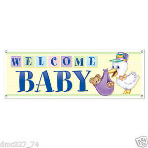 1 baby shower party decoration prop welcome baby stork for Baby welcome home decoration