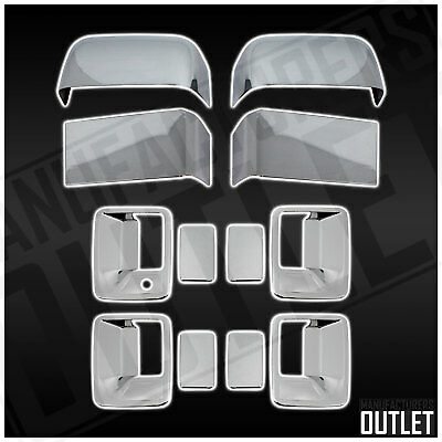 2008-2016 Ford F-250 Super Duty 4dr Chrome Door Handle Mirror Cover Trim