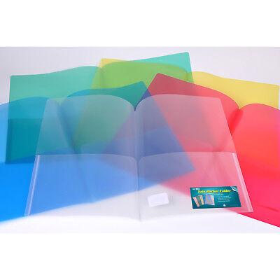 Nova Filer Te2761 Twin Pocket Poly Folder - Letter Size - 12 Count Green - New