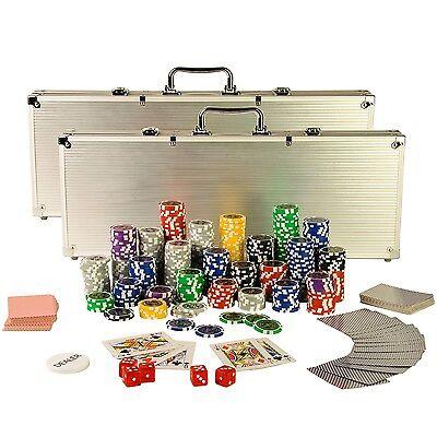 Pokerkoffer Pokerset Poker Set 1000 Laser Pokerchips