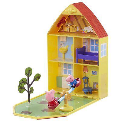 Peppa Pig Casa Maletín de Juego Casa y Jardín Incluye Figura Peppa Pig y