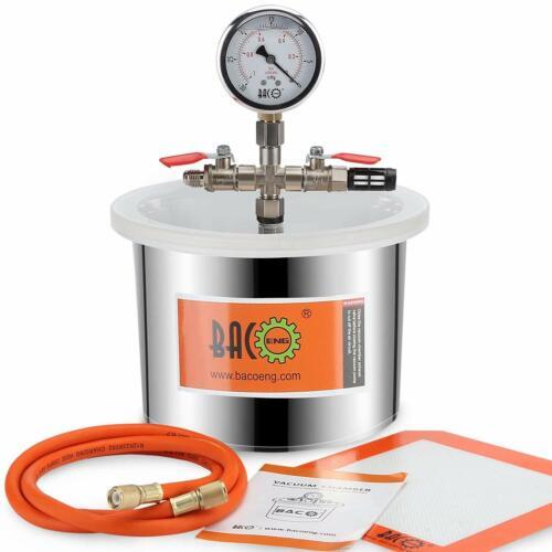 Bacoeng 1.5 Gallon Vacuum Chamber Stainless Steel kit for Degassing Resins